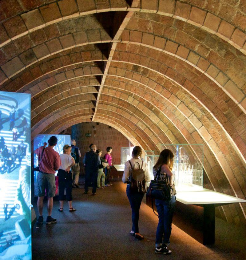 Catenary Arches in Attic Espai Gaudi La Pedrera Barcelona