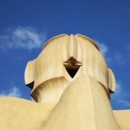 Giant Figure Rooftop Sculptures La Pedrera-Casa Milà Barcelona Spain
