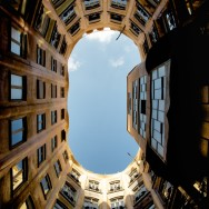 La Pedrera-Casa Milà Courtyards Skyview Barcelona Spain