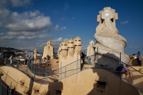 La Pedrera-Casa Milà Rooftop Barcelona Spain