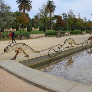 Metal Lizard Sculpture Parc de la Ciutadella Barcelona