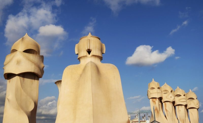Rooftop Sculptures La Pedrera-Casa Milà Barcelona Spain