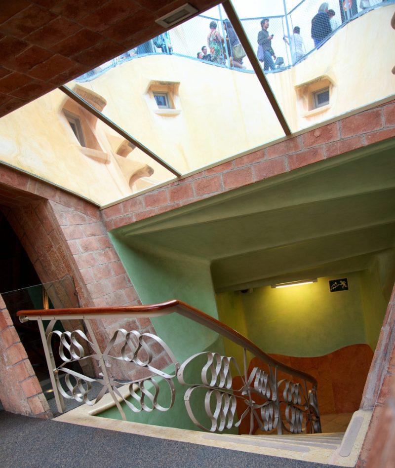 Stairwell La Pedrera Barcelona