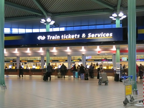 Поезд от аэропорта сипхол