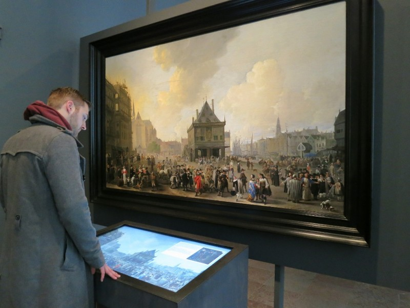 Dam Square with the New Town Hall under Construction Interactive Display Amsterdam Museum