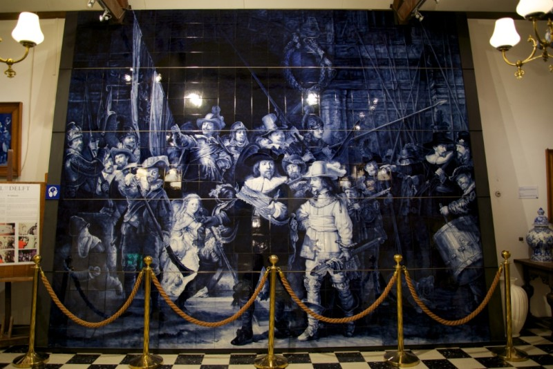 Delftware Tiles of Rembrandt's The Night Watch Royal Delft Factory Museum Delft