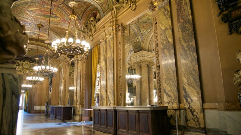 Opera House Foyer : Avant foyer mirrors and chandeliers palais garnier paris