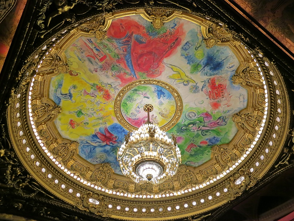 Things to do in paris visit paris opera palais garnier chandelier and chagall ceiling palais garnier paris france aloadofball Images