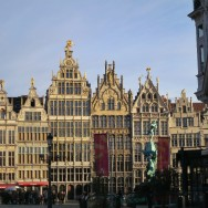 Guild Houses in Grote Market - Historic Center Antwerp Belgium