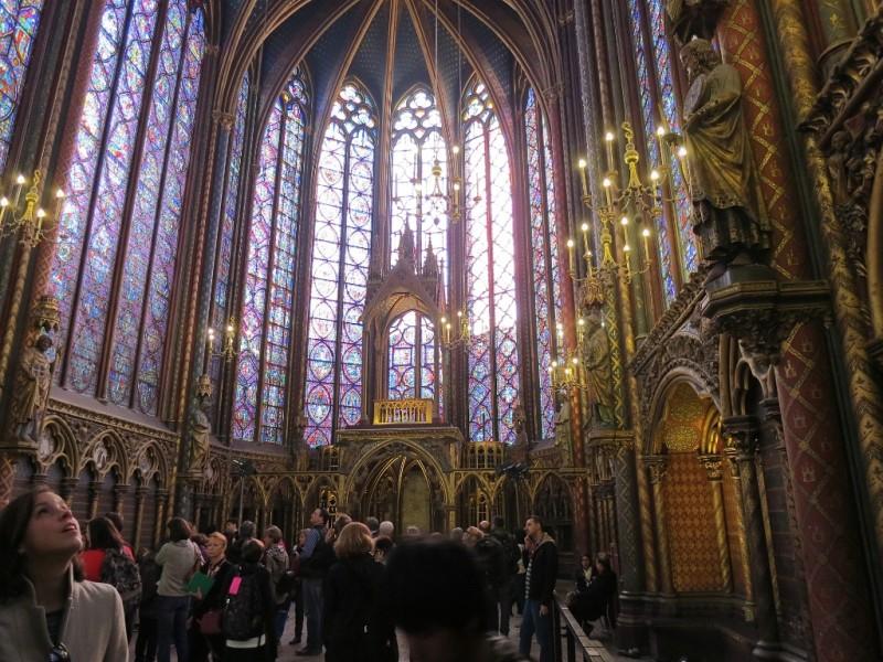 Interior Haute Chapelle Sainte Paris France