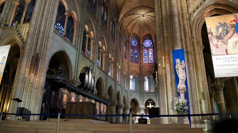 Interior Notre Dame Paris France