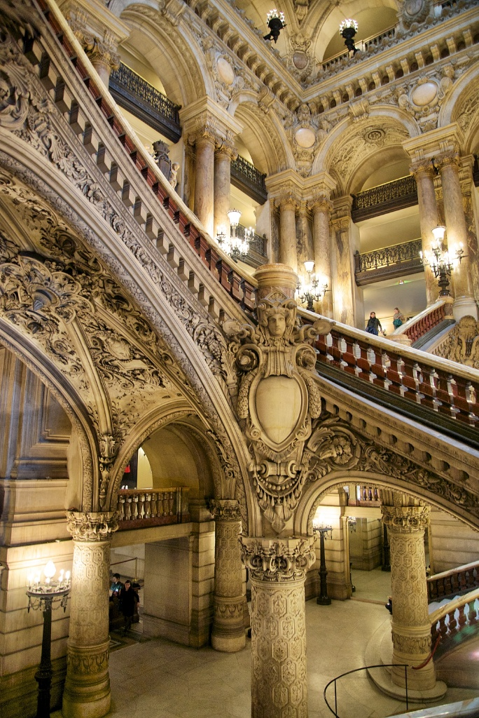 Marble Stairway Palais Garnier Paris France