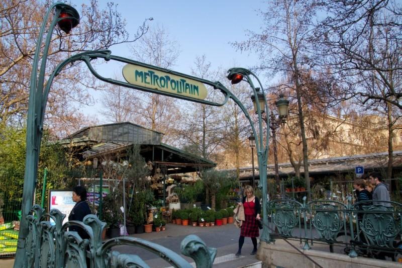 Metropolitain Art Nouveau Sign Ile de la Cite Paris France