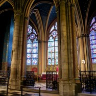 Side Chapels and Stained Glass Windows Notre Dame Paris France