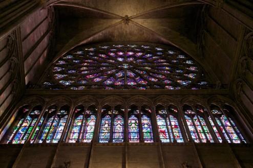 South Rose Window Notre Dame Paris France