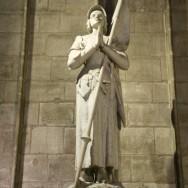 Statue Joan of Arc Notre Dame Paris France