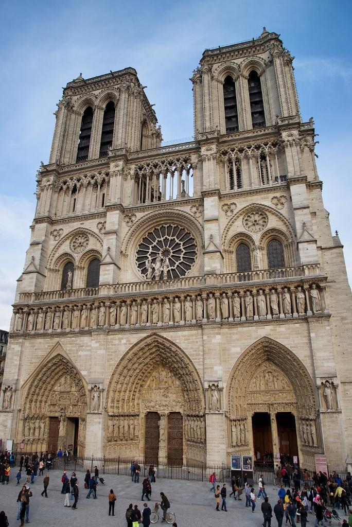 West Facade and Parvis Notre Dame Paris France
