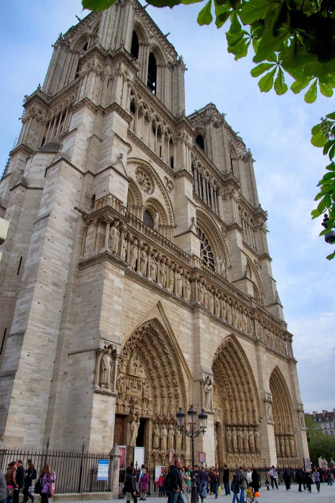 West Facade and Portals Notre Dame Paris France