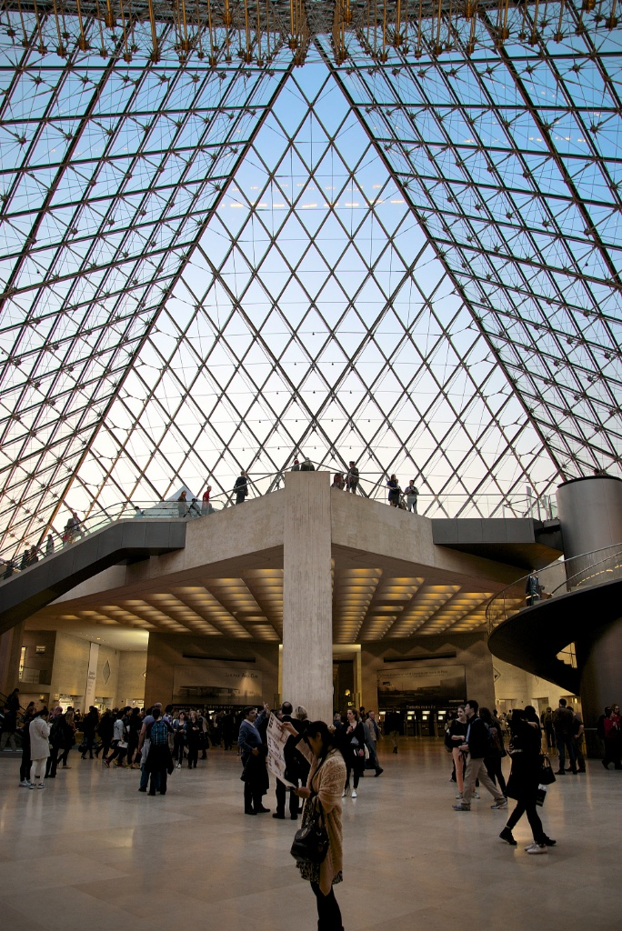 A Canopy of Glass Musee du Louvre Pyramid Paris France