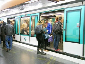 Boarding the Metro in Paris