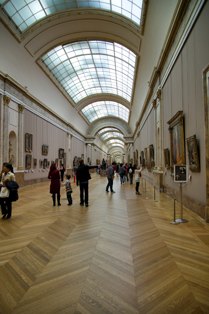 Endless Corridor of Art Musee du Louvre Paris France
