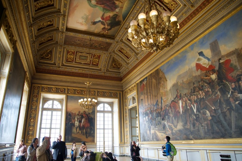 Giant Painting Gallery of Battles Chateau de Versailles France