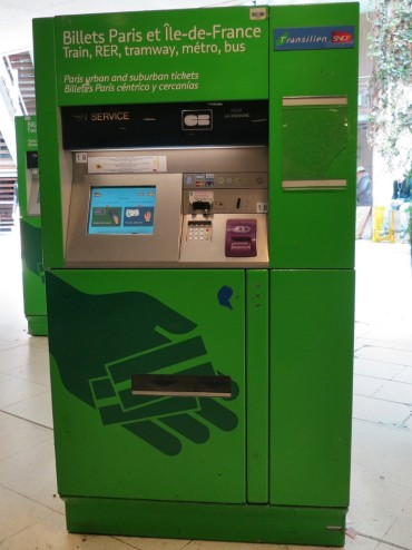 Green Ticket kiosk Paris France