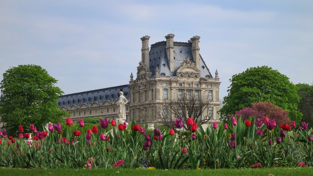 Tulips in tuileries gardens paris france for Tuilerie jardin