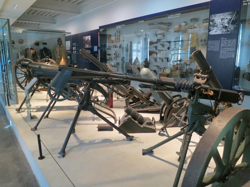 Artillery Display Contemporary Exhibit Musée de l'Armée Invalides Paris France