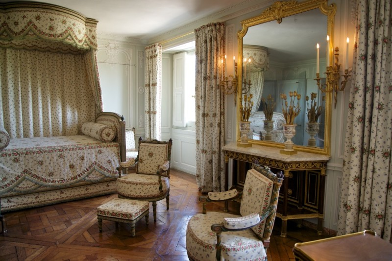 Bedchamber in Queen's Apartments Petit Trianon Versailles Estate France