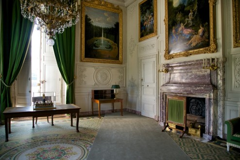 Emperor's Topographical Office with Napoleon's Desk Grand Trianon Versailles Estate France