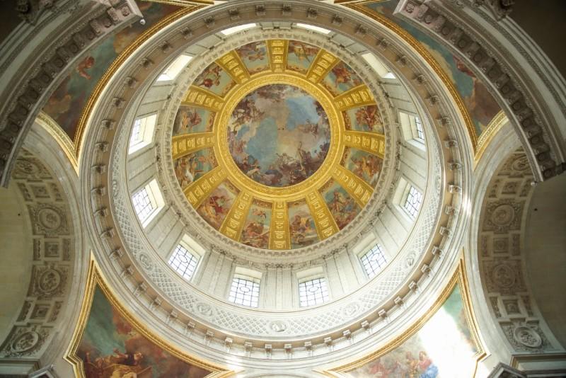 Dome Chapel Musée de l'Armée Invalides Paris France
