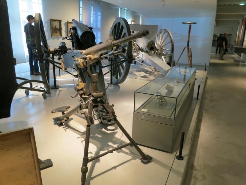 Guns and Weapons Display Contemporary Exhibit Musée de l'Armée Invalides Paris France
