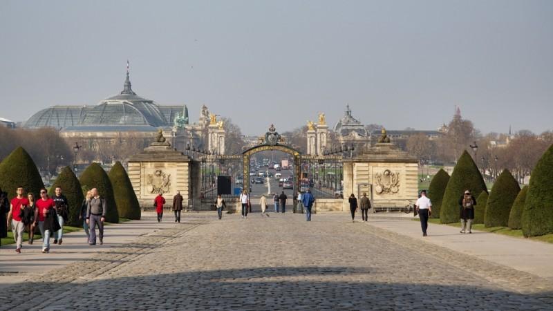 Les Invalides Entrance Across from Grand and Petit Palais Paris France