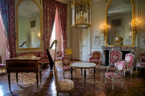 Living Room in Queen's Apartments Petit Trianon Versailles Estate France