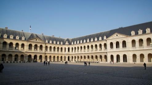 Main Courtyard Musée de l'Armée Invalides Paris France
