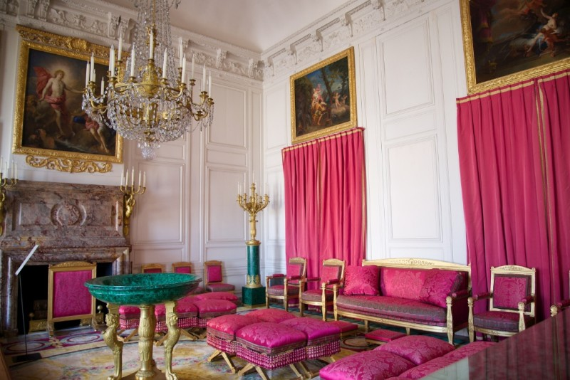 Malachite Salon Grand Trianon Versailles Estate France