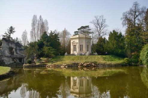 Rock Feature and Belvedere Domaine de Marie Antoinette Versailles Estate France