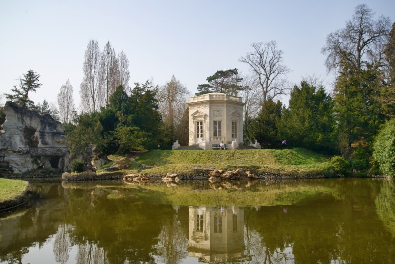 Rock Feature and Belvedere Domaine de Marie Antoinette Versailles Estate France
