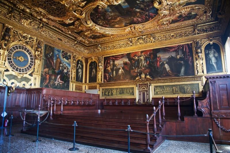 Sala Del Senato Palazzo Ducale Venice Italy