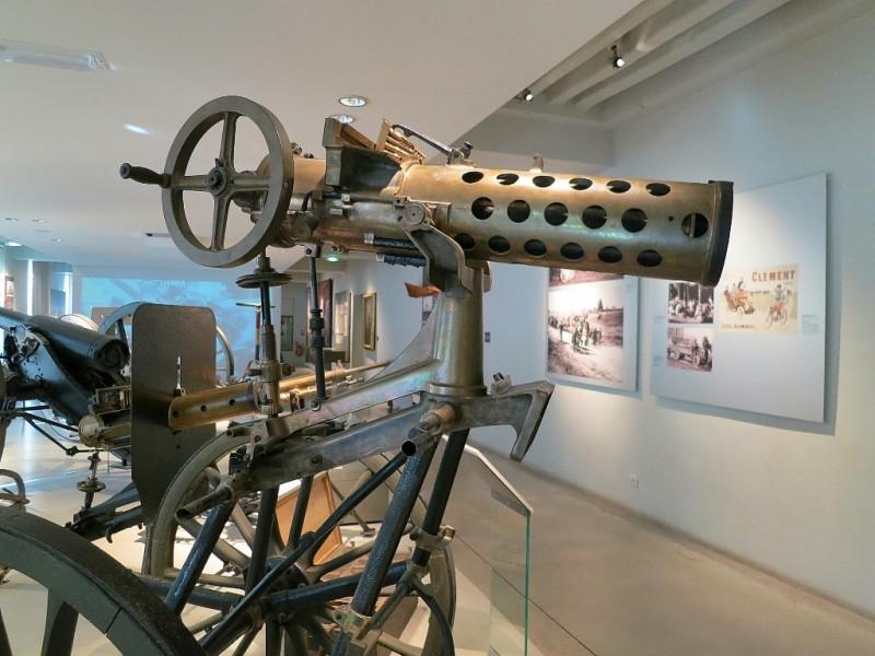 Weapons Display Contemporary Exhibit Musée de l'Armée Invalides Paris France