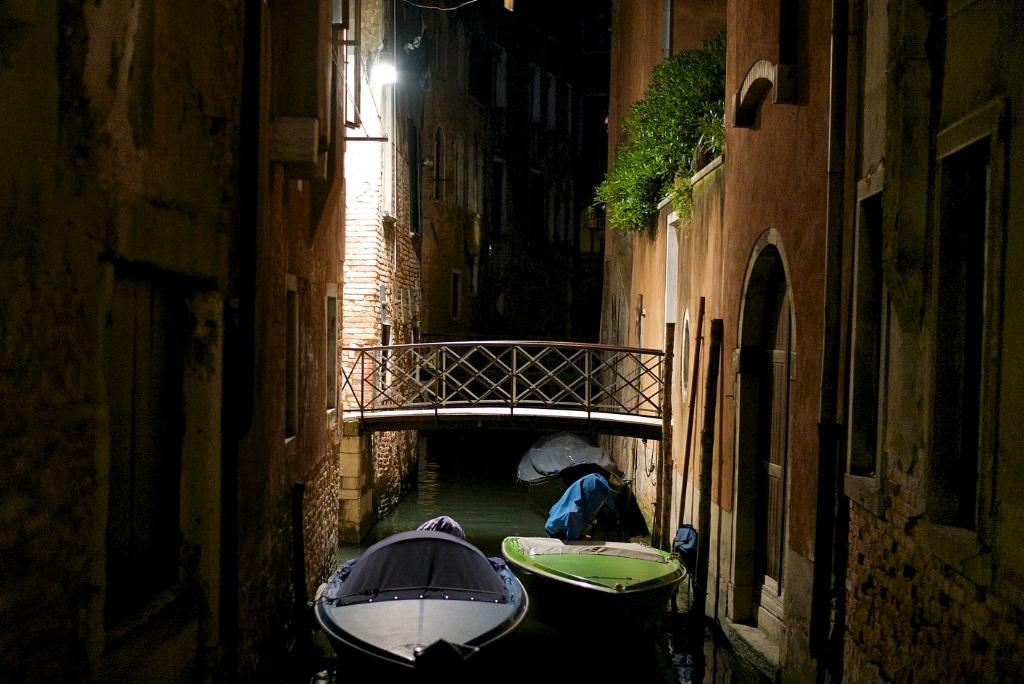 Boats At Night Venice Italy Mikestravelguide Com