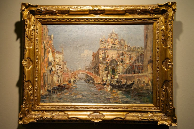 Painting In Egidio Martini Picture Gallery Ca Rezzonico Venice Italy Mikestravelguide Com