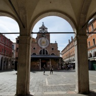 Arches and Church of San Giacomo di Rialto Venice Italy