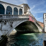 Rialto Bridge spanning the Grand Canal Venice Italy