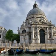 View from Grand Canal Santa Maria della Salute Venice Italy