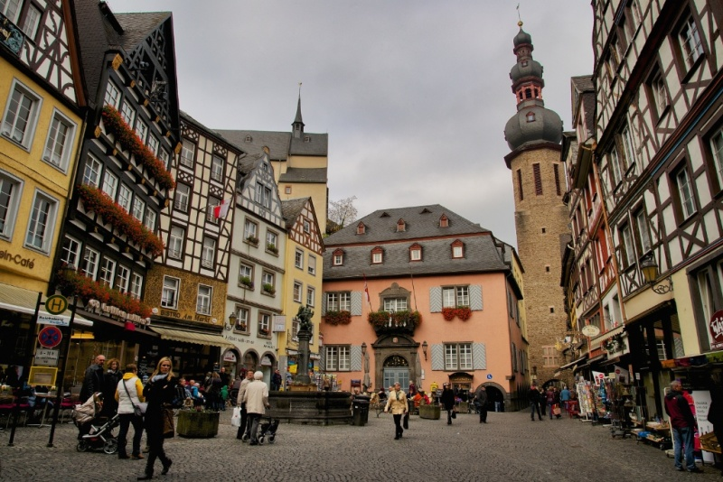 Markt Platz Cochem Mosel Wine Region Germany