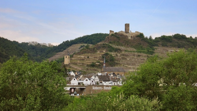 Niederburg Ruins Kobern Mosel Wine Region Germany