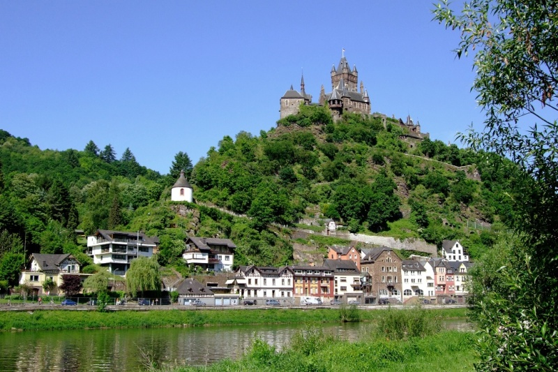View of Reichsburg and Cochem Germany