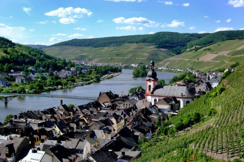Zell Mosel Wine Region Germany